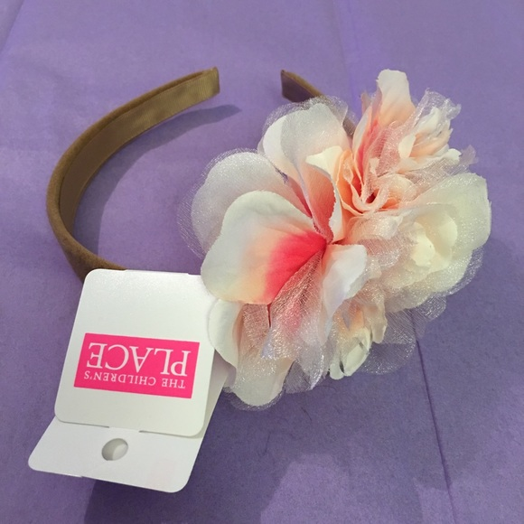 The Childrens Place floral headband pink NWT